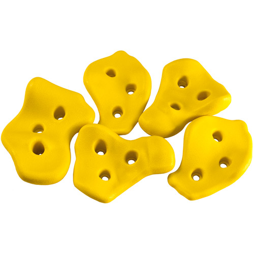 Gorilla Playsets Rock Wall Rocks with Hardware, Yellow (5-Pack)