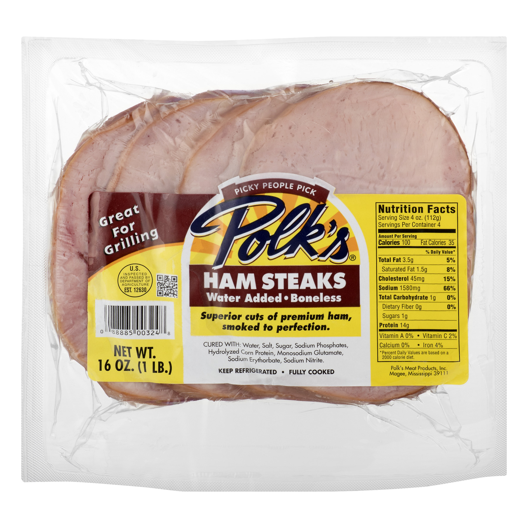 Polk's Ham Steaks, 16.0 OZ