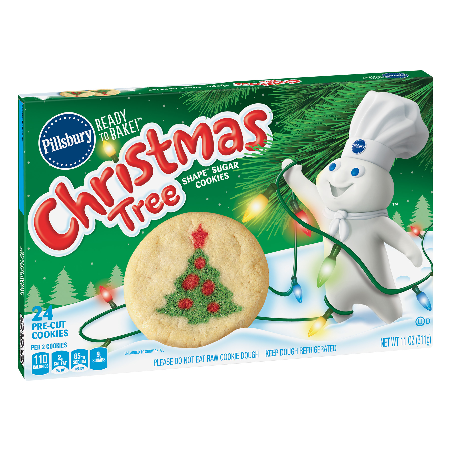 Pillsbury Ready to Bake Christmas Tree Shape Sugar Cookies