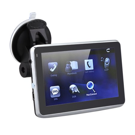 5 Inch Hd Touch Screen Car Gps Navigation 128Mb Ram 4Gb Fm Video Play Car Navigator With Back Support  Free Map