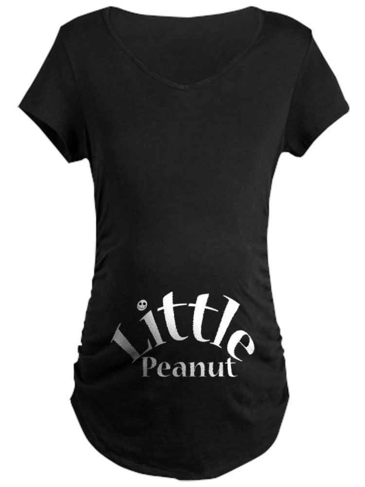 CafePress - Little Peanut Maternity T-Shirt - Maternity Dark T-Shirt