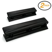 2PK Super Great Desktop 3-Hole Paper Punch for Two or Three Holes Punching to Fi
