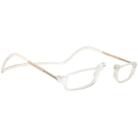 CliC City +2.00 Reading Glasses Clear Frame Clear Lenses Size (Glasses Frame Size Guide)