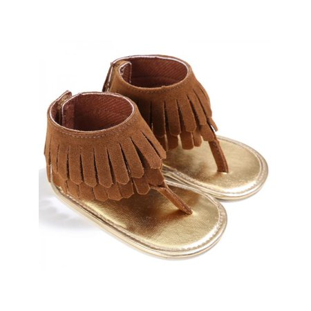 Nicesee Infant Baby Girls Tassel Sandal Summer Shoes Anti-slip Newborn Prewalker 0-18 - Leather Girls Sandals