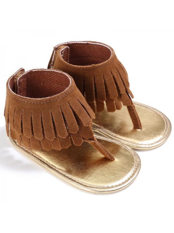 Nicesee Infant Baby Girls Tassel Sandal Summer Shoes Anti-slip Newborn Prewalker 0-18 Months