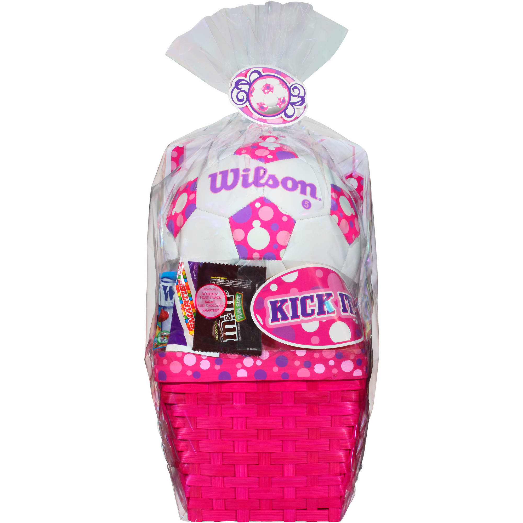 Wondertreats Girls Wilson Soccerball Kick It! Easter Basket