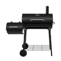 Deals on 30-Inch Charcoal Barrel Grill With Side Smoker