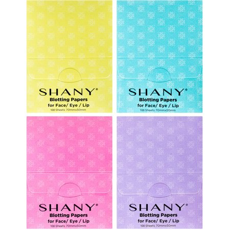 SHANY Blotting Papers, 100 count, (Pack of 4)
