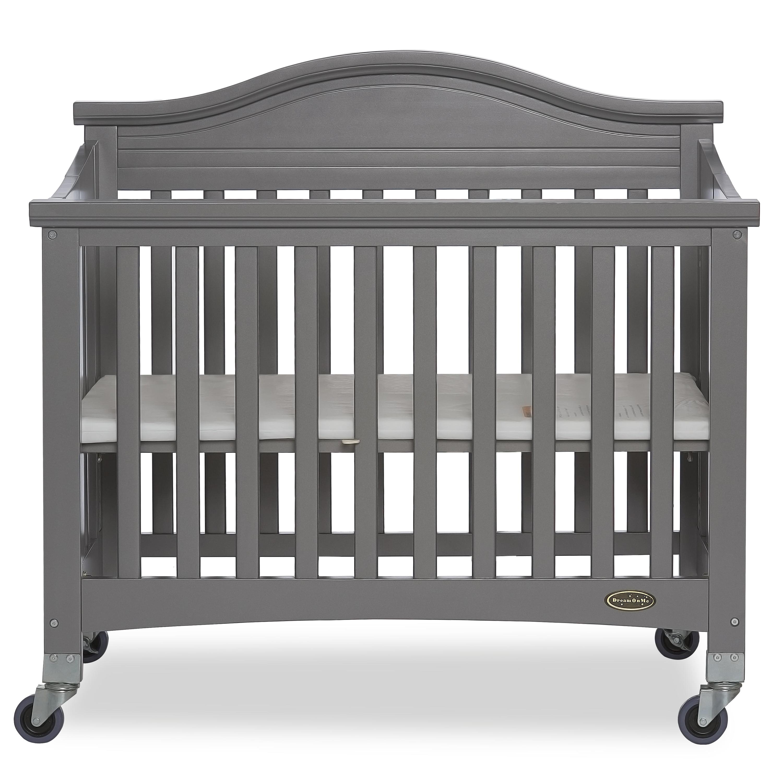 Slumber Baby Venice Mini Folding Portable Crib, Gray ...