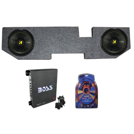 "2 KICKER 12"" 600W Subwoofers + Dodge Ram Quad Cab"