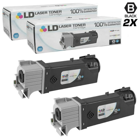 LD Compatible Replacements for Xerox Phaser 106R01281 Set of 2 High Yield Black Laser Toner Cartridges for use in Xerox