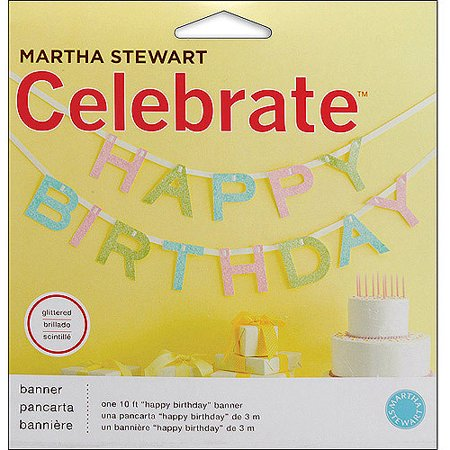 Martha Stewart Celebrate Banner, Happy Birthday