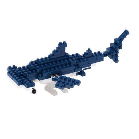 Hammerhead Shark Building Kit, This stealthy ocean predator in a steely blue and white patrols the seas, special parts make the tail and fins.., By Nanoblock