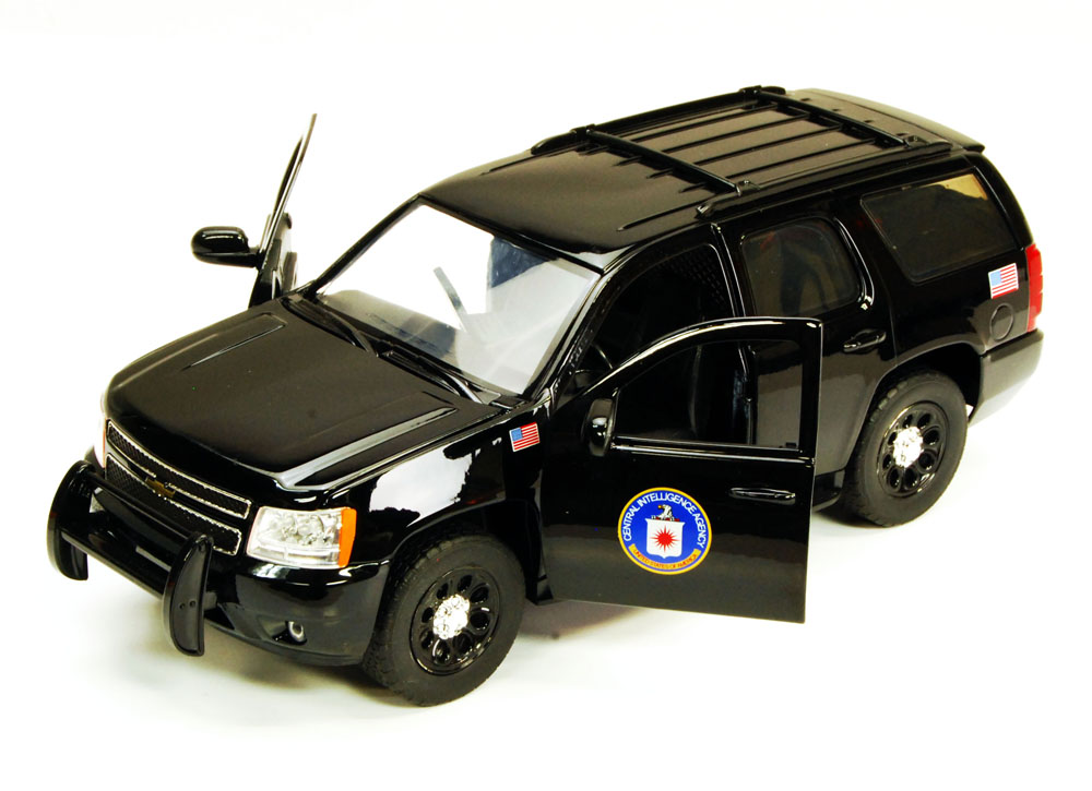 Chevy Tahoe CIA SUV, Black Jada Toys Hero Patrol 96295CIA 1 24 scale Diecast Model Toy Car... by Jada