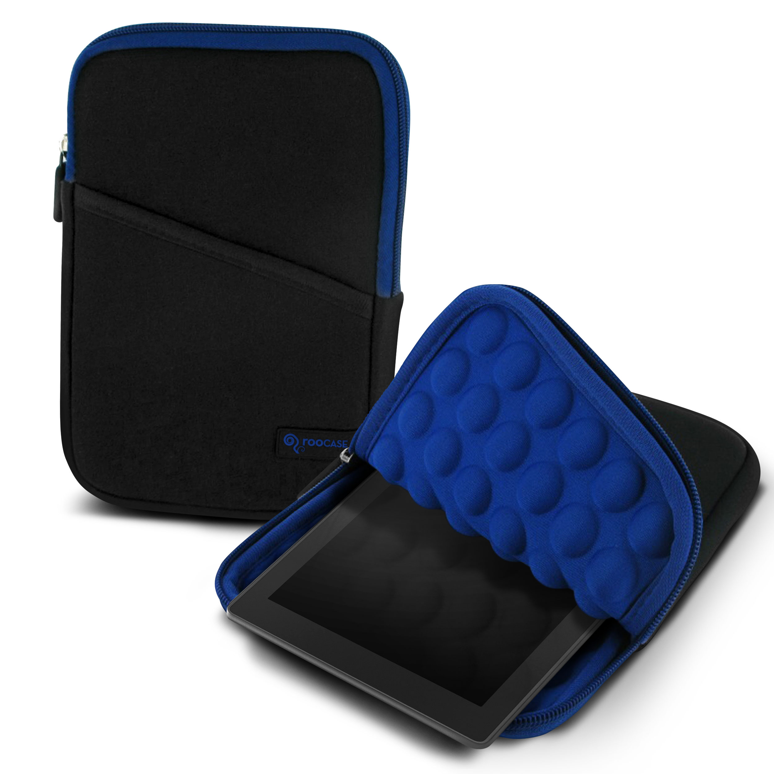 "roocase Bubble Sleeve Carrying Universal 7"" Tablet Case for iPad Mini Retina / Galaxy Tab 3 4 7.0 8.0 / Nexus 7 2013 / Asus MeMO Pad 7 ME173 ME176CX / HP 7 Slate Plus / Dell Venue Pro 7.0 8.0, Blue"