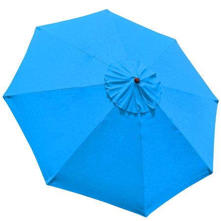 9' 8 Ribs Umbrella Canopy Replacement Patio Top Cover Market (Replacement Umbrella Canopy For 9ft 8 Ribs)