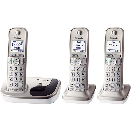 Panasonic KX-TGD213N Expandable Digital Cordless Phone with 3 Handsets