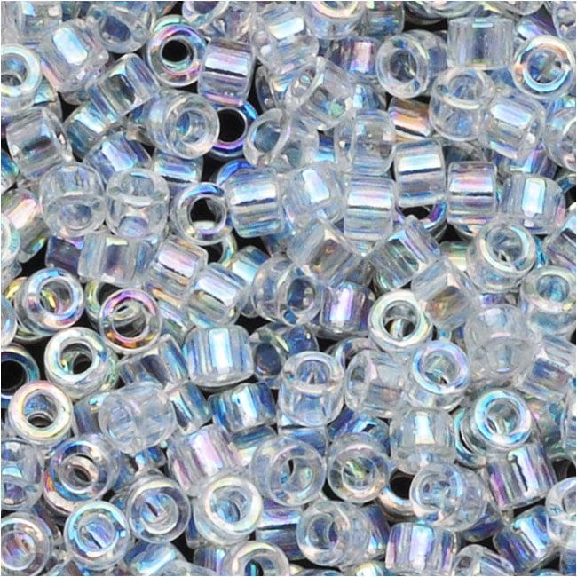 Miyuki Delica Seed Beads 10/0 Crystal AB DBM0051 8 Grams