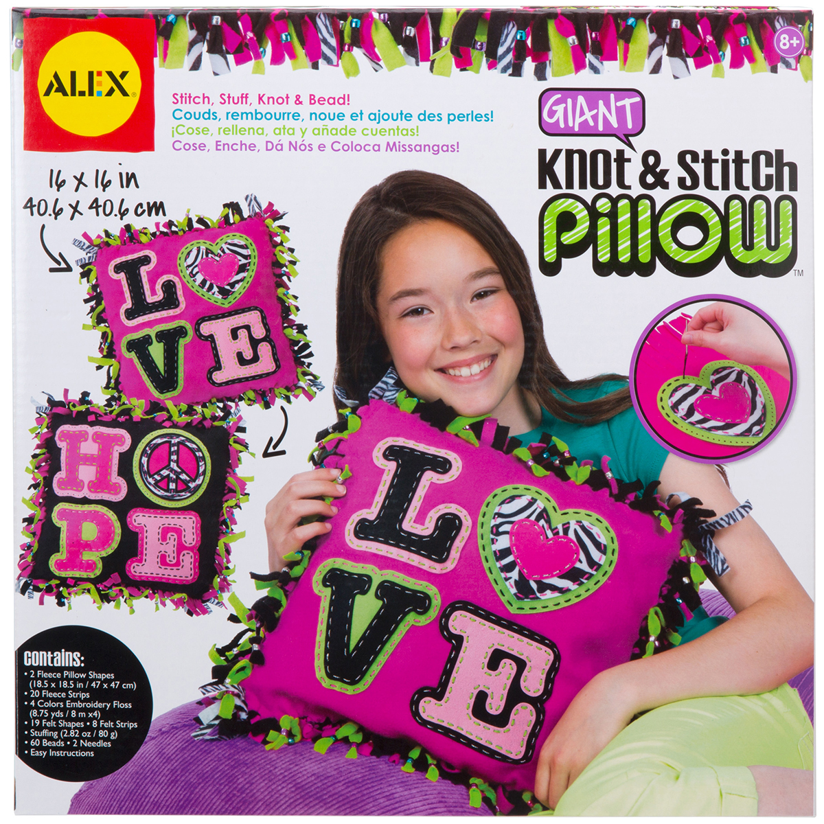 Alex Toys Giant Knot & Stitch Pillow Kit