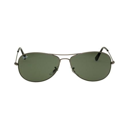Ray-Ban Cockpit Metal Frame Green Classic Lens Unisex Sunglasses RB3362 Cable Classics Sunglasses