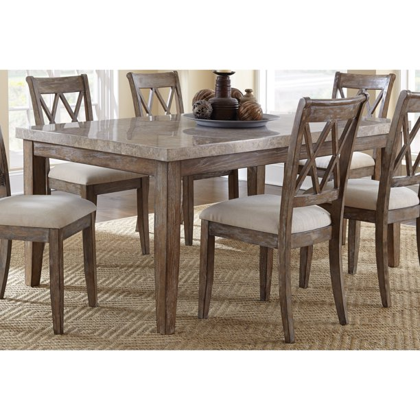 greyson living fulham marble top 70inch dining table