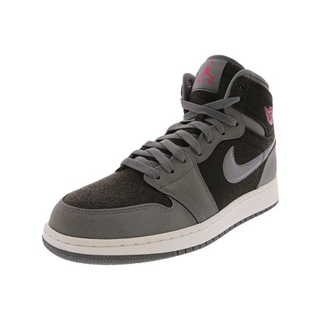 new styles 70552 23e30 Nike Men's Air Jordan 1 Retro High Gg Cool Grey / Vivid Pink - Black  High-Top Fashion Sneaker 9.5M