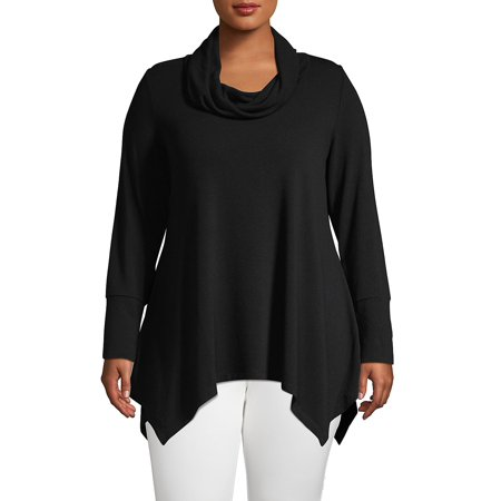 Plus Cowlneck Pullover Top