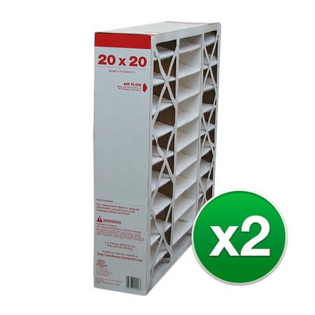 Replacement For Goodman MU2020 20x20x5 Furnace Air Filter- MERV 11 (2 (Goodman Air Cleaners)