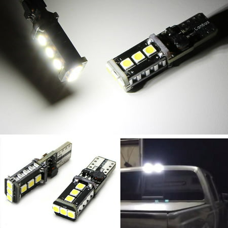 iJDMTOY (2) Xenon White High Power 9-SMD 906 912 920 921 T15 LED Replacement Bulbs For Chevrolet Ford GMC Honda Nissan Toyota Truck 3rd Brake Lamp Cargo Lights