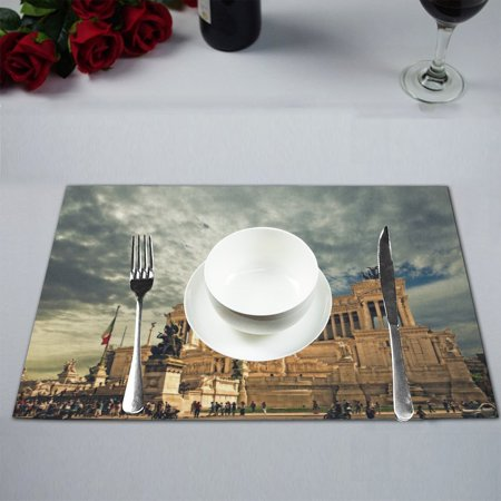 MYPOP Travel in Italy Table Placemat Food Mat 12x18 Inches Non Slip Table - Italian Table Decorating Ideas