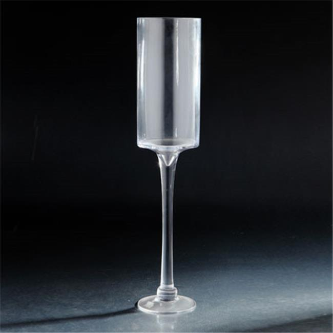 Diamond Star 62046 24 x 5 in. Glass Candle Holder with Stem, Clear