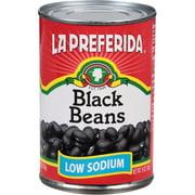 La Preferida Low Sodium Black Beans, 15 oz, (Pack of 12)