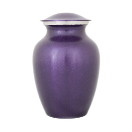 Bronze Pet Urn - Small 40 Pounds - Violet Purple Purple Bronze - Engraving Sold Separately