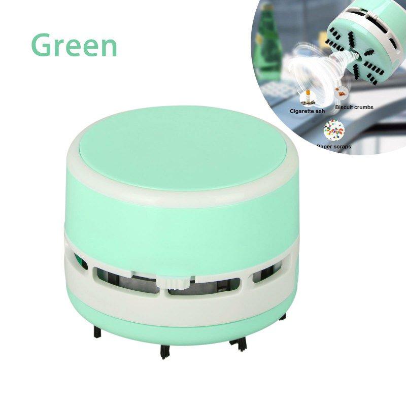 Charmant Mini Portable Handheld Tabletop Crumb Sweeper Desktop Home Table Sweeper  Keyboard Vacuum Cleaner (Green)