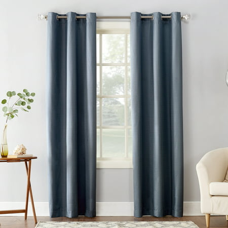 Sun Zero Cooper Textured Thermal-Lined Room Darkening Energy-Efficient Grommet Curtain