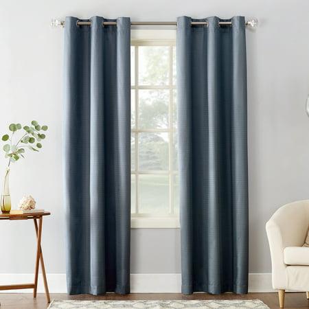 - Sun Zero Cooper Textured Thermal-Lined Room Darkening Energy-Efficient Grommet Curtain Panel