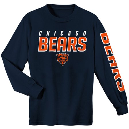 Youth Navy Chicago Bears Sleeve Hit Long Sleeve T-Shirt (Macys Chicago)