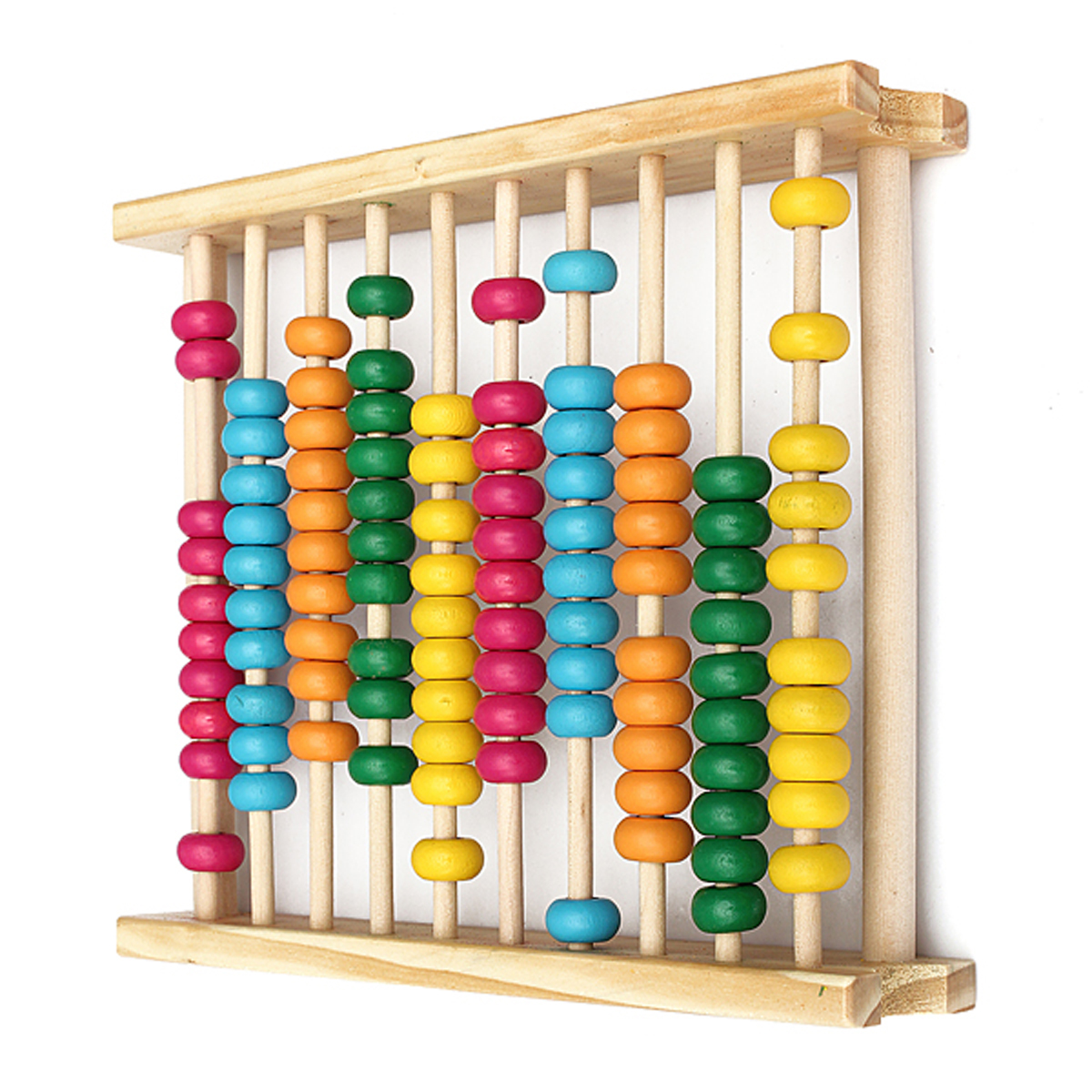 Wooden Abacus-Classic and Colorful Children's Math and Counting Toy with Free-Standing Frame and 100 Beads-Learning and Educational Toy