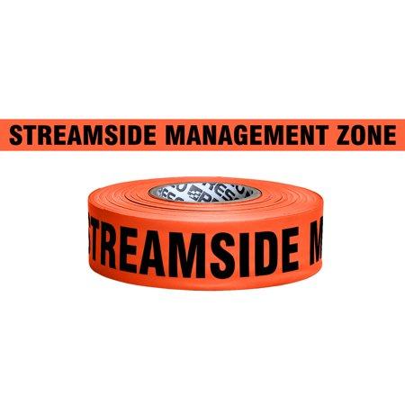 Streamside Tools (Presco Printed Roll Flagging Tape: 1-3/16 in. x 50 yds. (Neon Orange with Black
