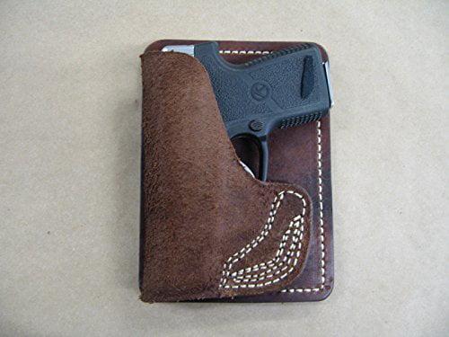 AZULA Leather Inside Pocket Wallet Handgun Holster CCW For..Choose Gun Model