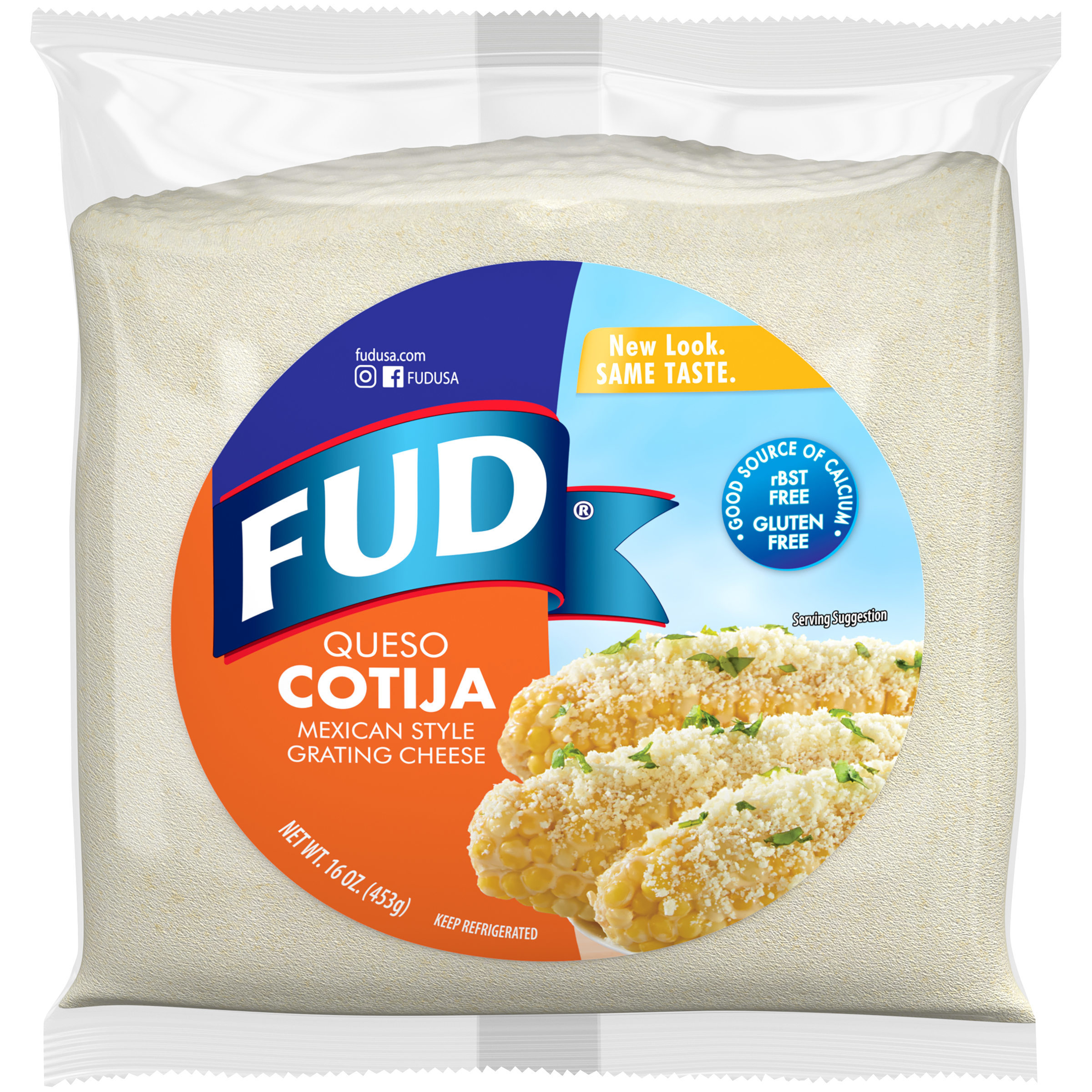 FUD® Queso Cotija Mexican Style Grating Cheese 16 oz. Bag ...