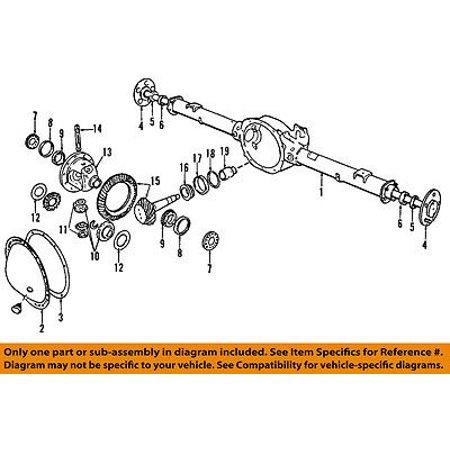 Mopar Ring Pinion - Dodge CHRYSLER OEM 2008 Dakota Rear Differential-Ring & Pinion 5135943AB
