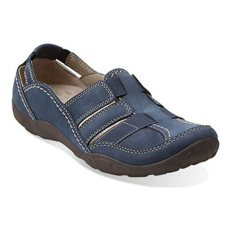 Clarks Narrative Haley Stork Women  Round Toe Leather Blue Fisherman Sandal