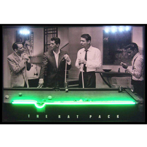 Neonetics Retro Rat Pack Neon LED Lighted Framed Photographic Print