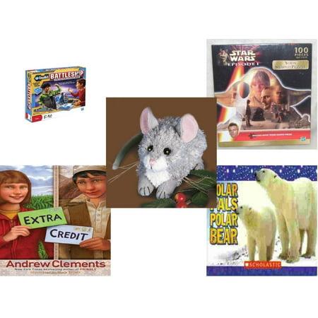 Bears In Star Wars (Children's Gift Bundle [5 Piece] -  U-Build Battleship  - Star Wars Episode I Yoda Shaped   - Kernel Mouse   6