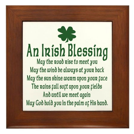 CafePress - Irish Blessing - Framed Tile, Decorative Wall Hanging