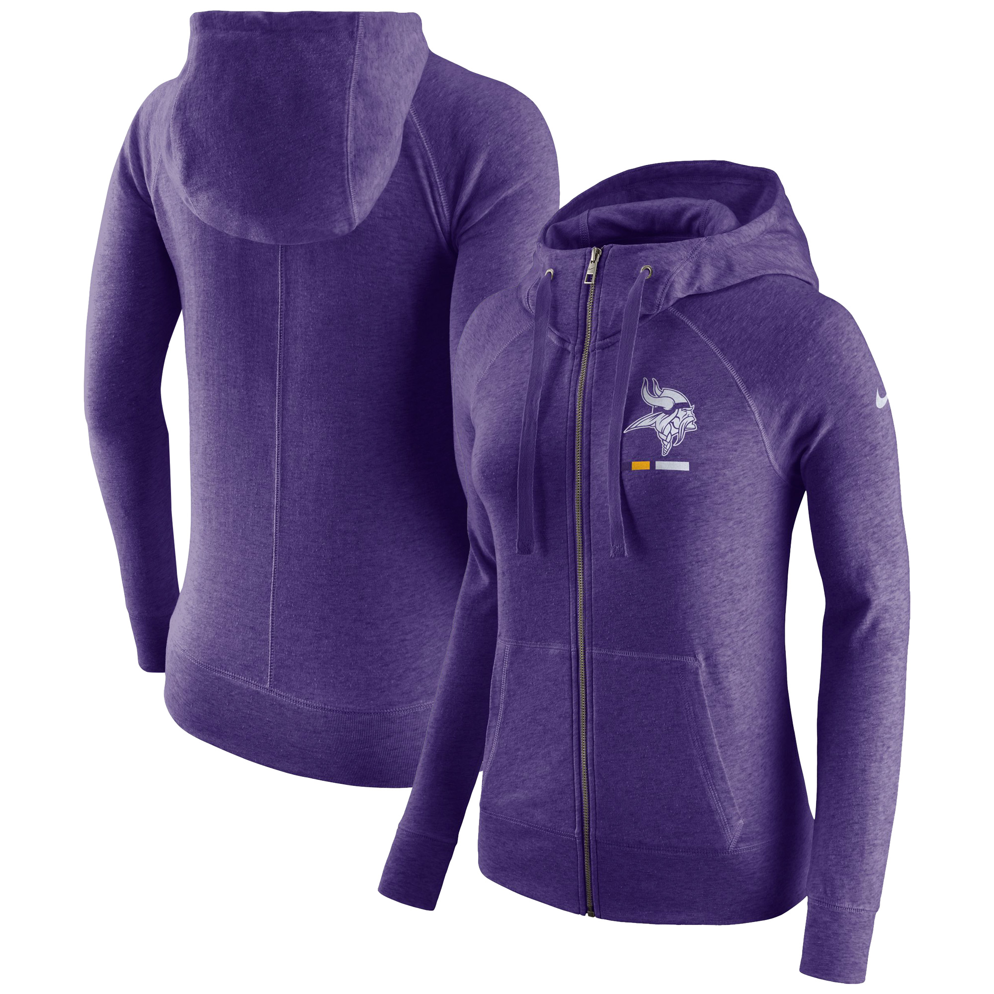 premium selection 9cb18 2fb91 Minnesota Vikings Nike Women's Gym Vintage Full-Zip Hoodie - Purple