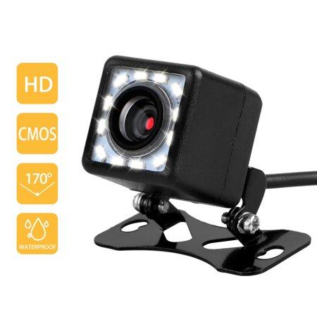 TSV LED Backup Camera,Car Rear View Camera Waterproof High Definition 170 Degree Viewing Angle,Universal Mount (Front view/Rear
