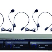 4-Microphone VHF Wireless Lavalier/Headset System
