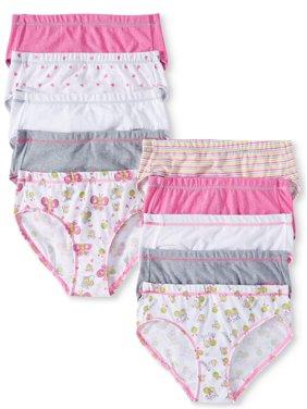Hanes EcoSmart Tagless Brief Underwear, 10 Pack (Toddler Girls)